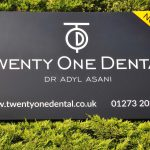 Twenty One Dental - Hove, sign