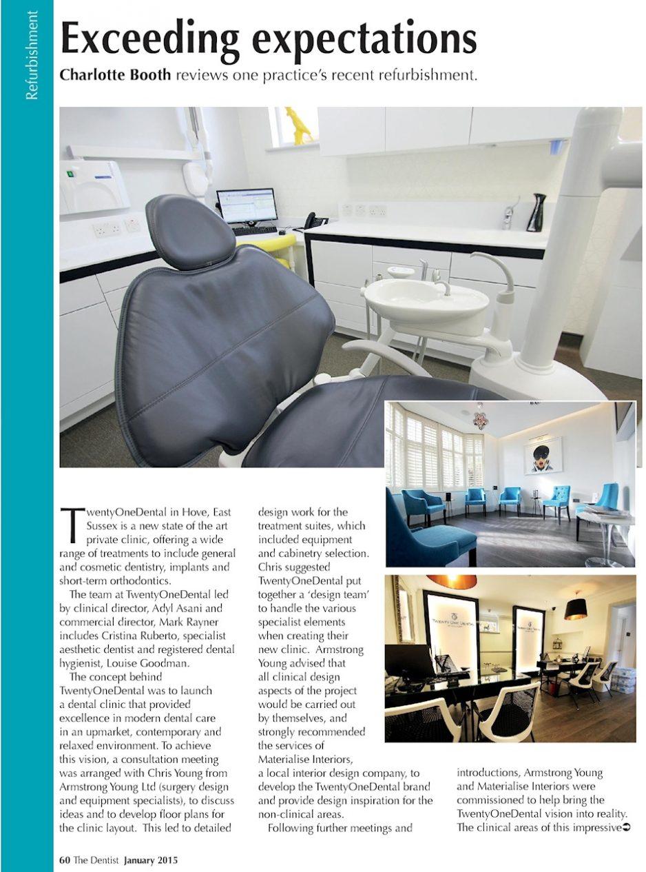 The Dentist magazine - January 2015 - Twenty One Dental 1
