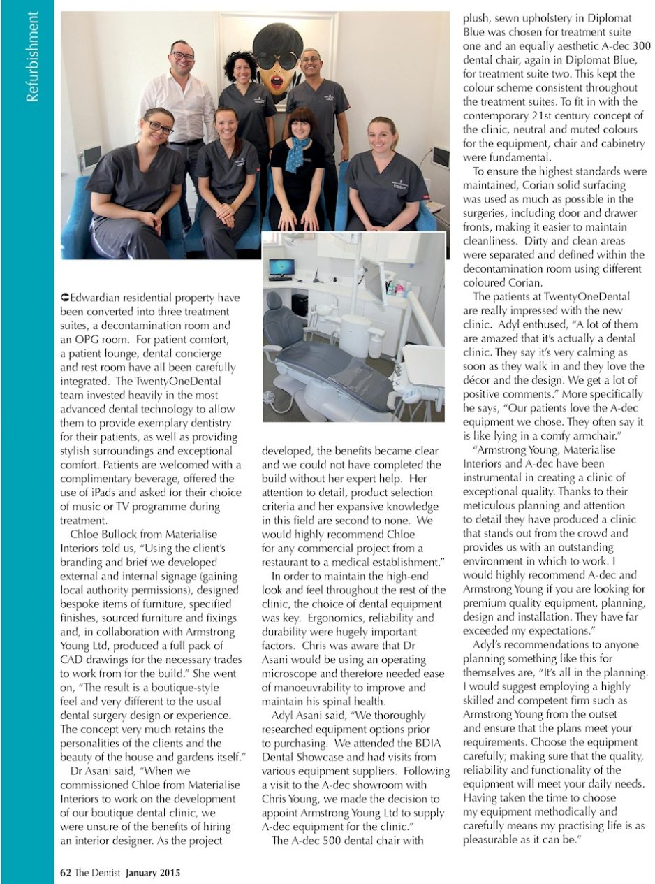 The Dentist magazine - January 2015 - Twenty One Dental 2